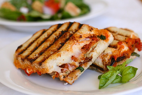 Chicken Parm Panini for Lunch at Zooma Italian Restaurant Providence RI