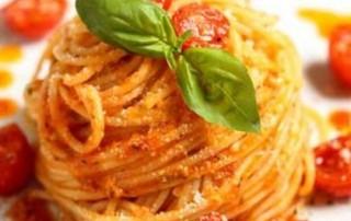 Piennolo Tomato over Spaghetti